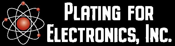 Plating for Electronics Logo